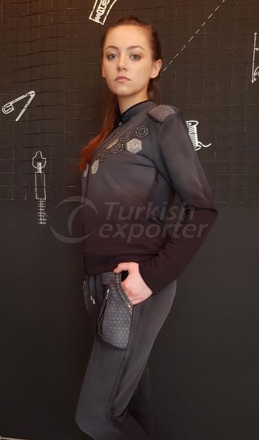 Gray-Black Design Dress