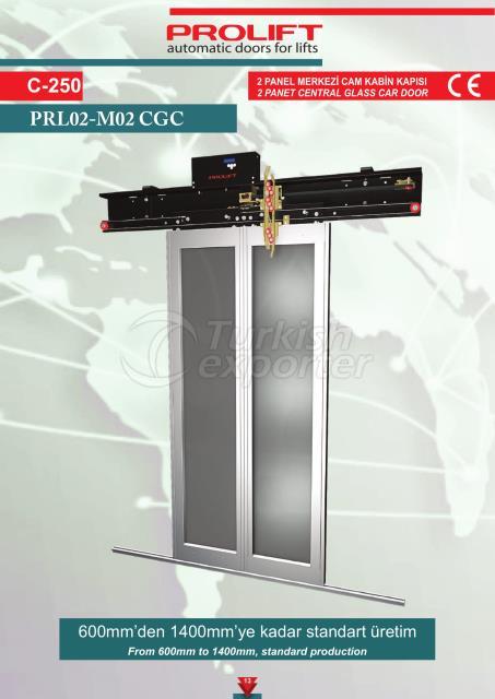 2PNL CENTRAL GLASS CAR DOOR