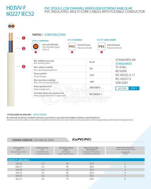 H03VV-F 60227 IEC52