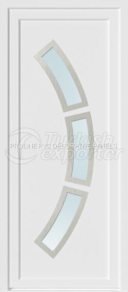 Inox PVC Door Panels 20007