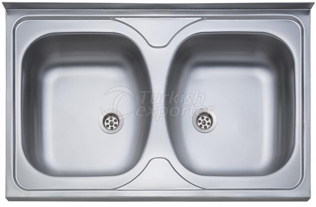 50x80 2 Bowl Layon Sink