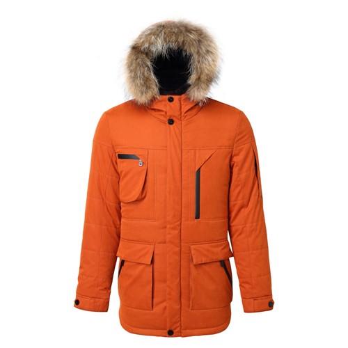 Men Winter Stylish Long Hooded Coat
