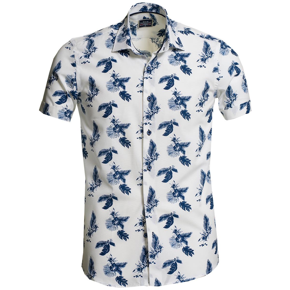 Collection de chemises habillées à manches courtes pour hommes d'Hawaï