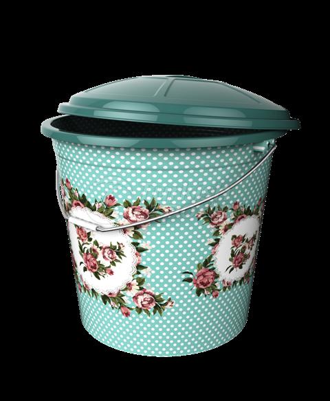 5 No Lux Decorated Bucket / 22 lt