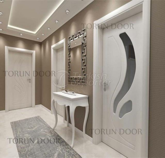 wooden interior mdf pvc room door