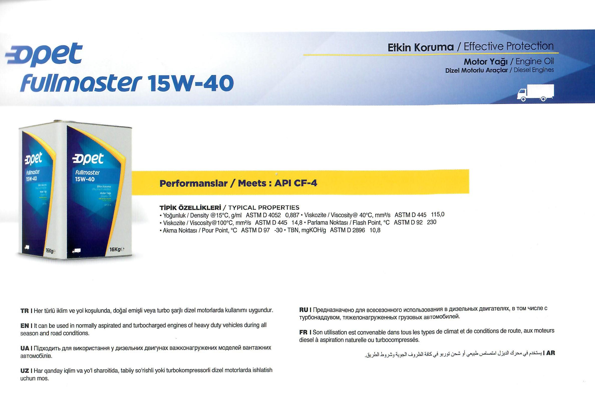FULLMASTER 15W-40