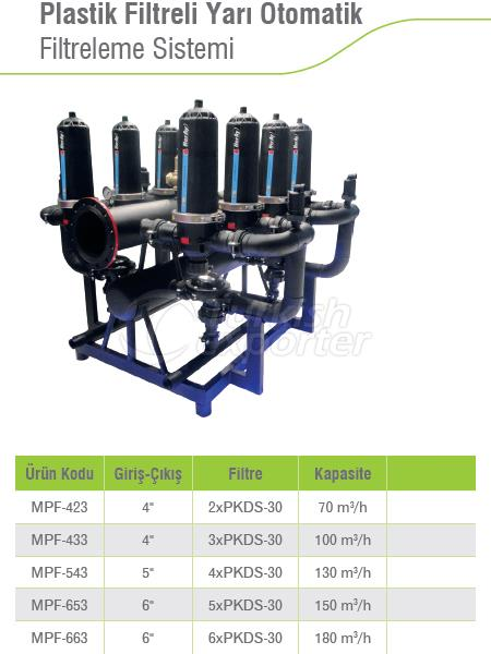 Semi-Automatic Filtration System With Plastic Filter
