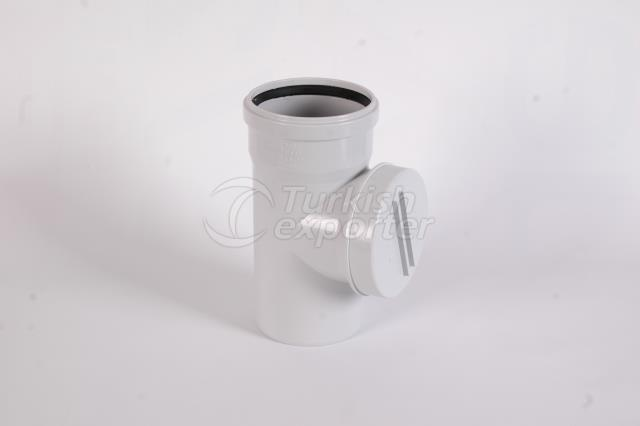PVC Cleaning Tee