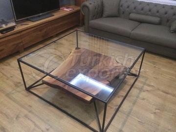 Table basse en bois naturel