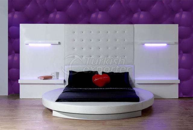 سرير دائري- نيلوفر