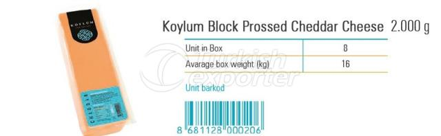 Koylum Sliced Prossed Cheddar Cheese 2000g