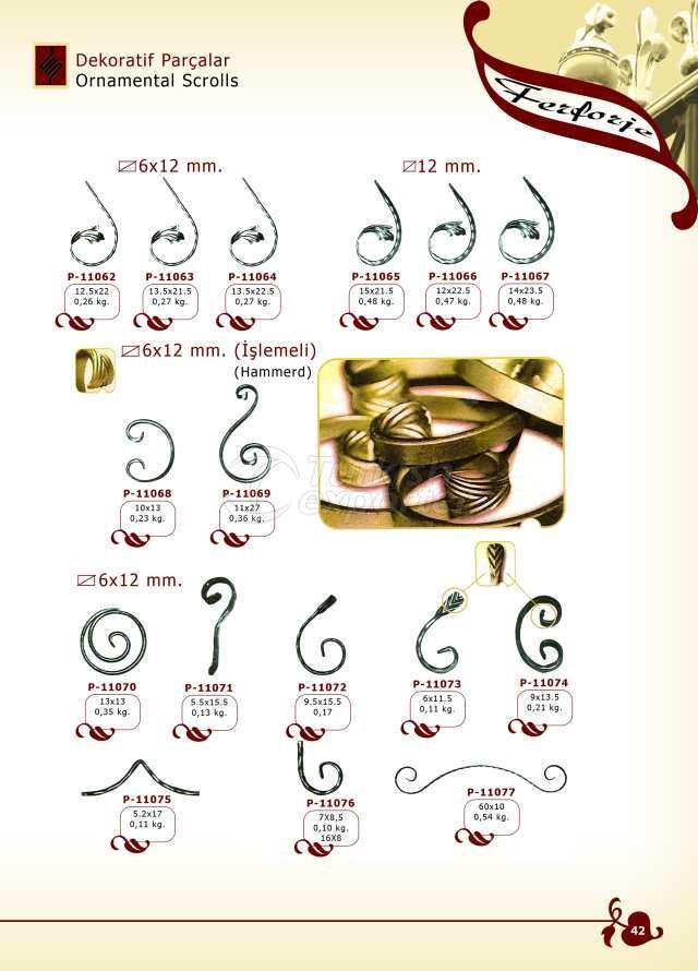 Rouleaux décoratifs pour pièces décoratives
