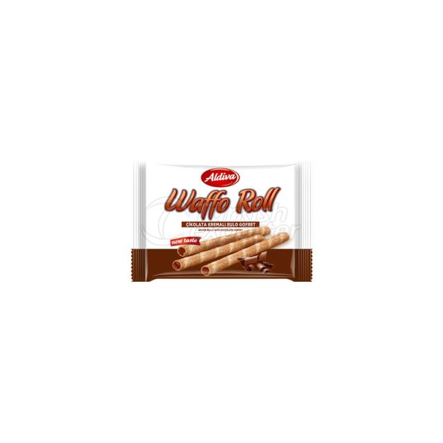 Waffo Çikolatalı Kremalı Rulo Gofret