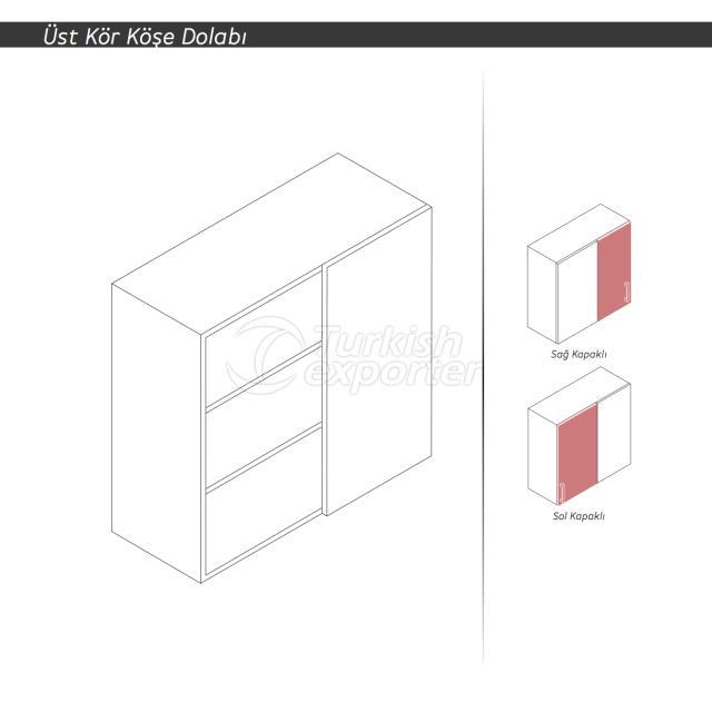 WALL CORNER CABINET(One Door Fixed)