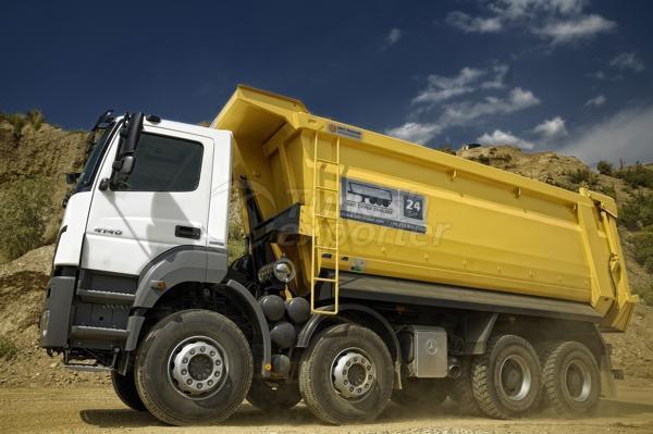 Caminhão montado meia tubulação Dump08