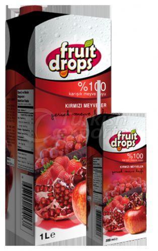 Сок из красных фруктов