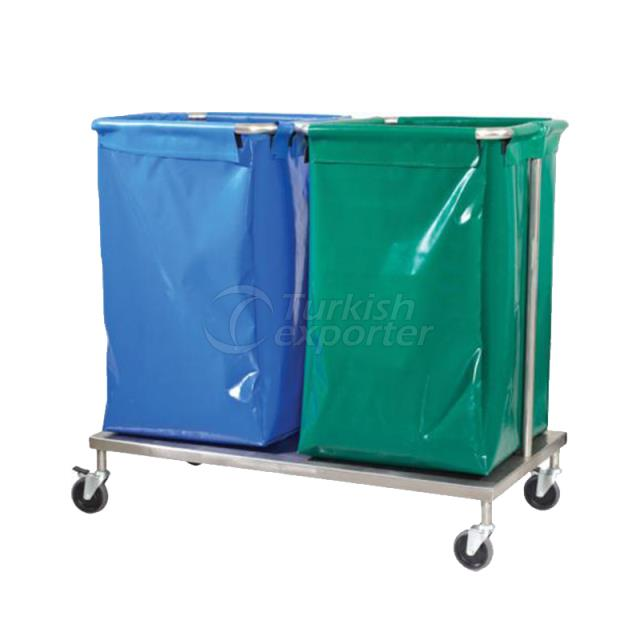 LAUNDRY COLLECTING TROLLEY