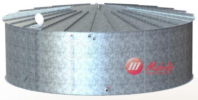Single Row Cylindrical Water Tank