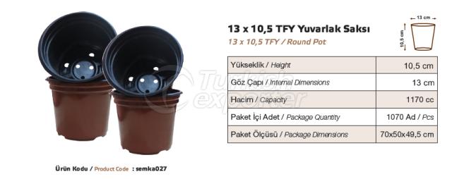 Pot rond rond de 13x10,5