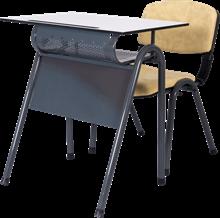Compact Laminate Single School Desk Set