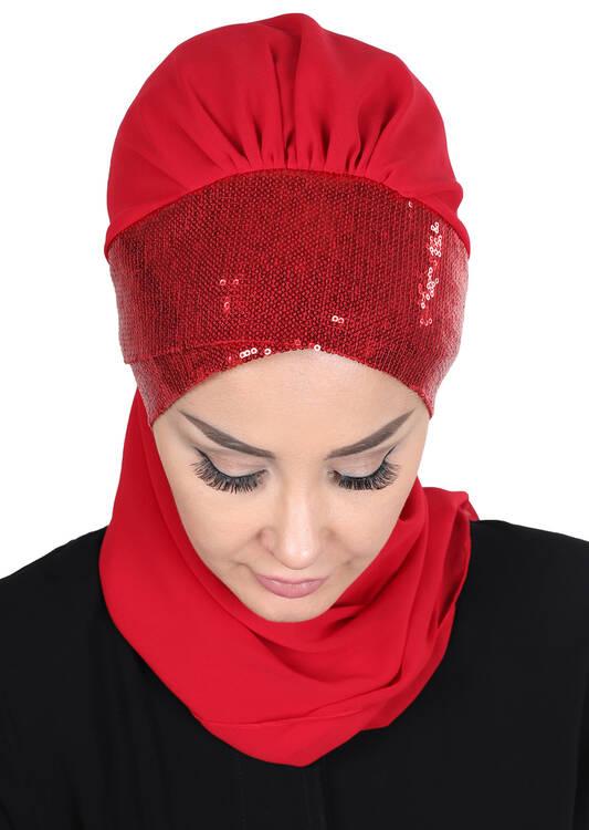 Chiffon Instant Turban -  HT 0054