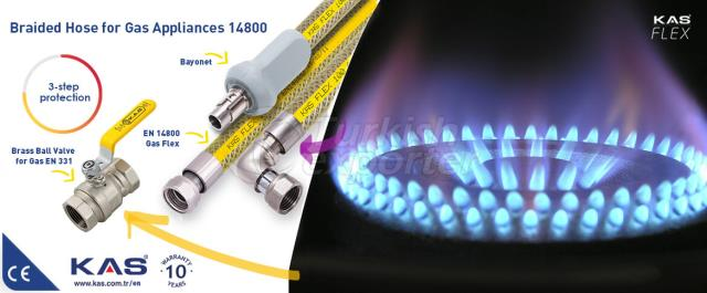 Braided S.S. Hose For Natural Gas