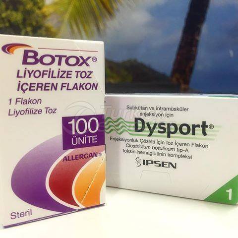 Botox 100U/Vial& Dysport 500U/Vial