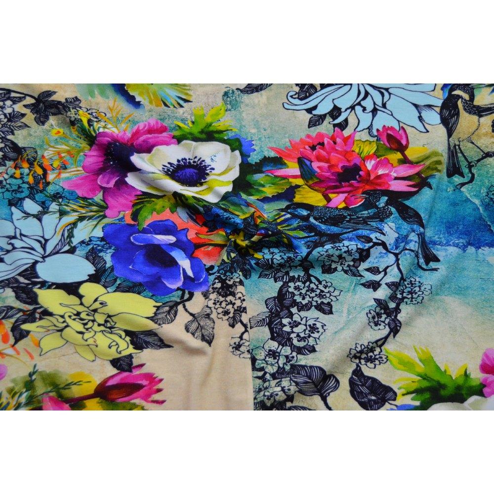 Digital Reactive Printed Jersey Fabric