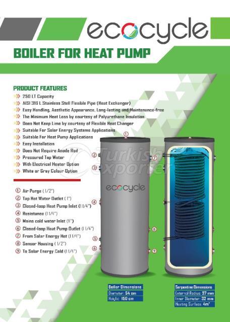 Caldeira para bomba de calor