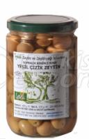 Scratched Green Olives