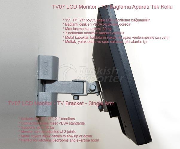 LCD Monitor - TV Bracket - Single Arm - TV07