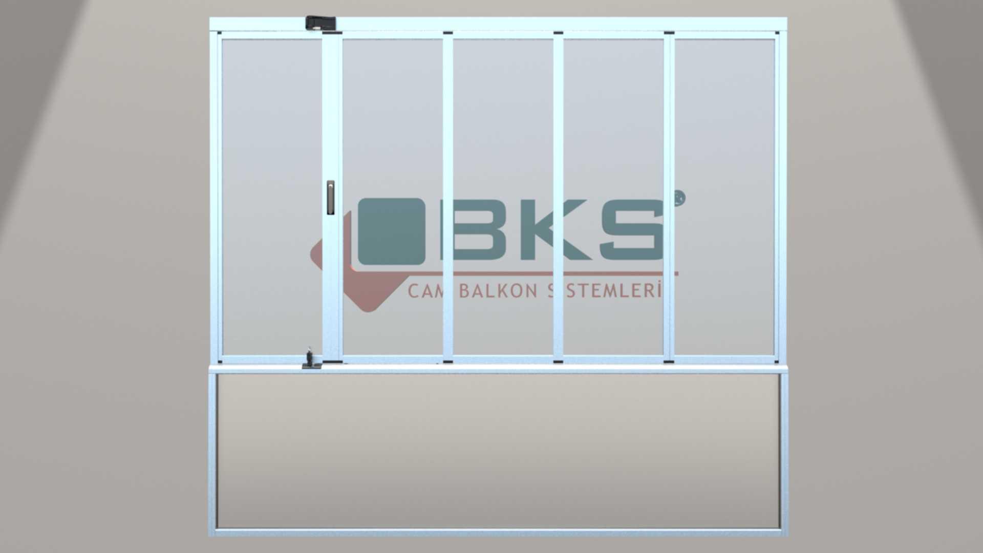 HEAT INSULATED BALCONY GLAZING SYSTEM WITH GLASS RAILING