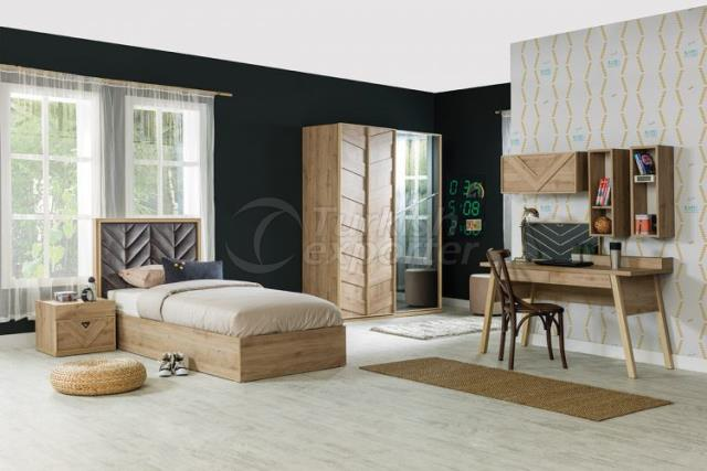 Habitación joven de madera