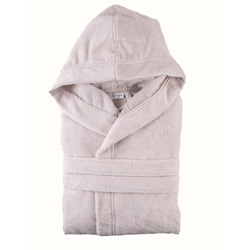 Hooded Model Bathrobe