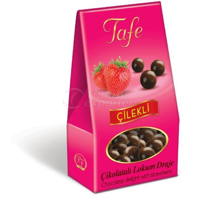 1247 kod Çilekli Çikolatalı Lokum Draje 60g