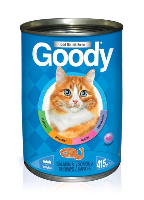 Canned Cat Food Salmon & Shrimp 415 gr (24pcs)