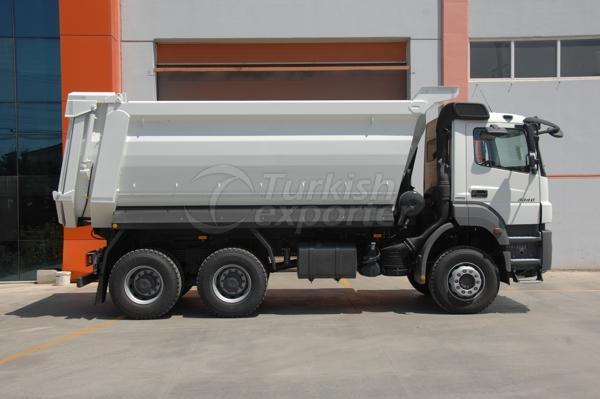 Caminhão montado meia tubulação Dump01