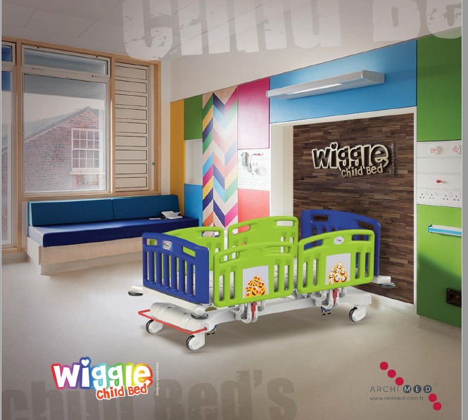 WIGGLE  CHILD BED (4 Motors) (WITH BED EXTENSION)
