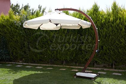 деревянный зонт