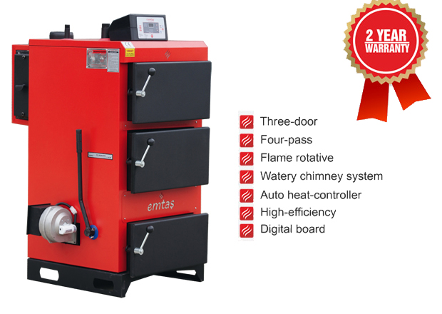 AUTOMATIC TEMPERATURE-CONTROLLED SOLID FUEL HEATING BOILERS