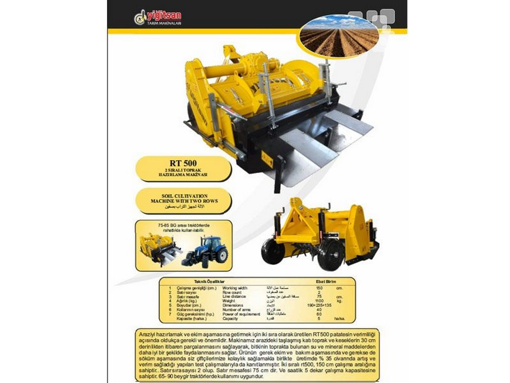 Soil Preparation Machinery Yrt500