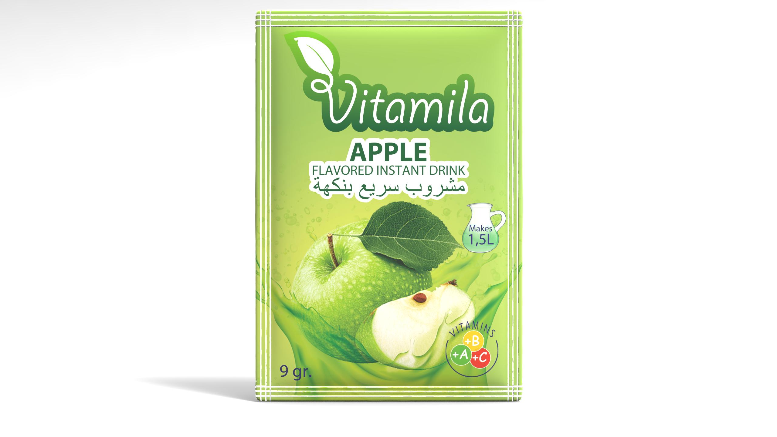 Vitamila - Apple Flavoured Instant Powder Drink - 9 gr.