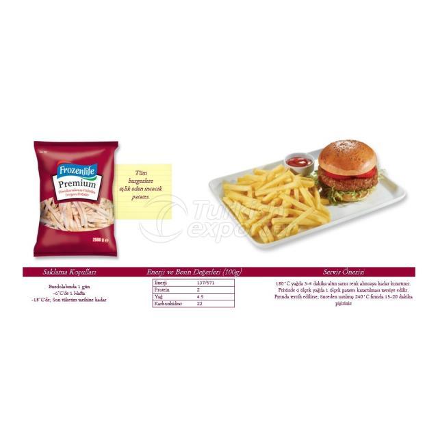 Premium Düz Kesim Patates