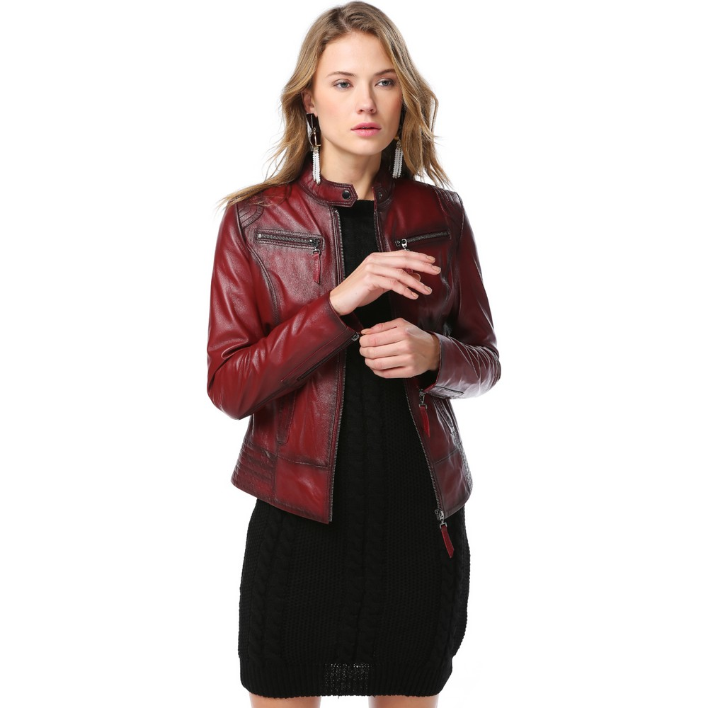 Custom Made Leather Jackets for Ladies OEM Service