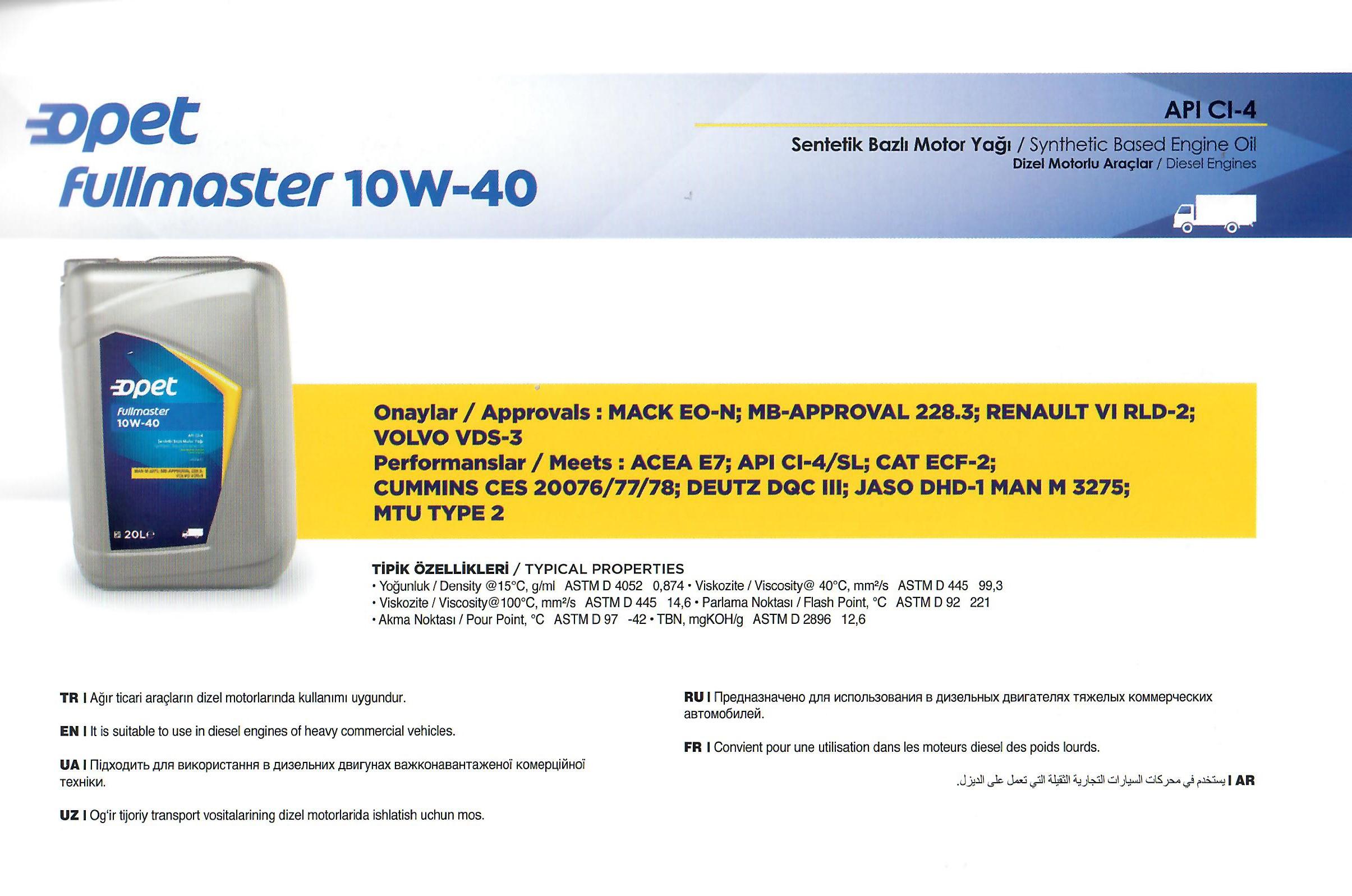 FULLMASTER 10W-40
