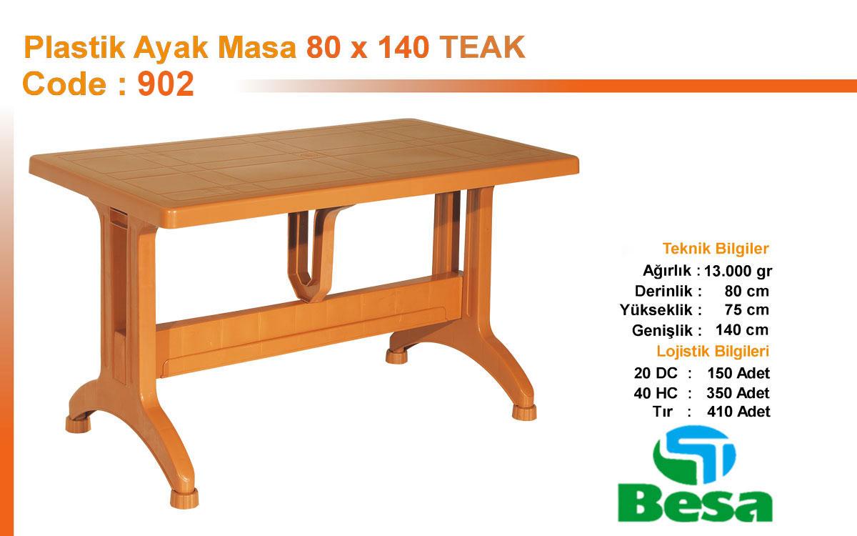 Plastic Table - 80 x140