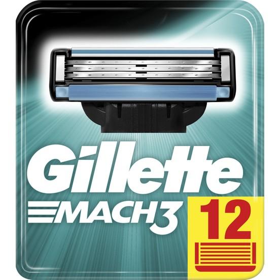 Gillettte Mach3 - количество 12