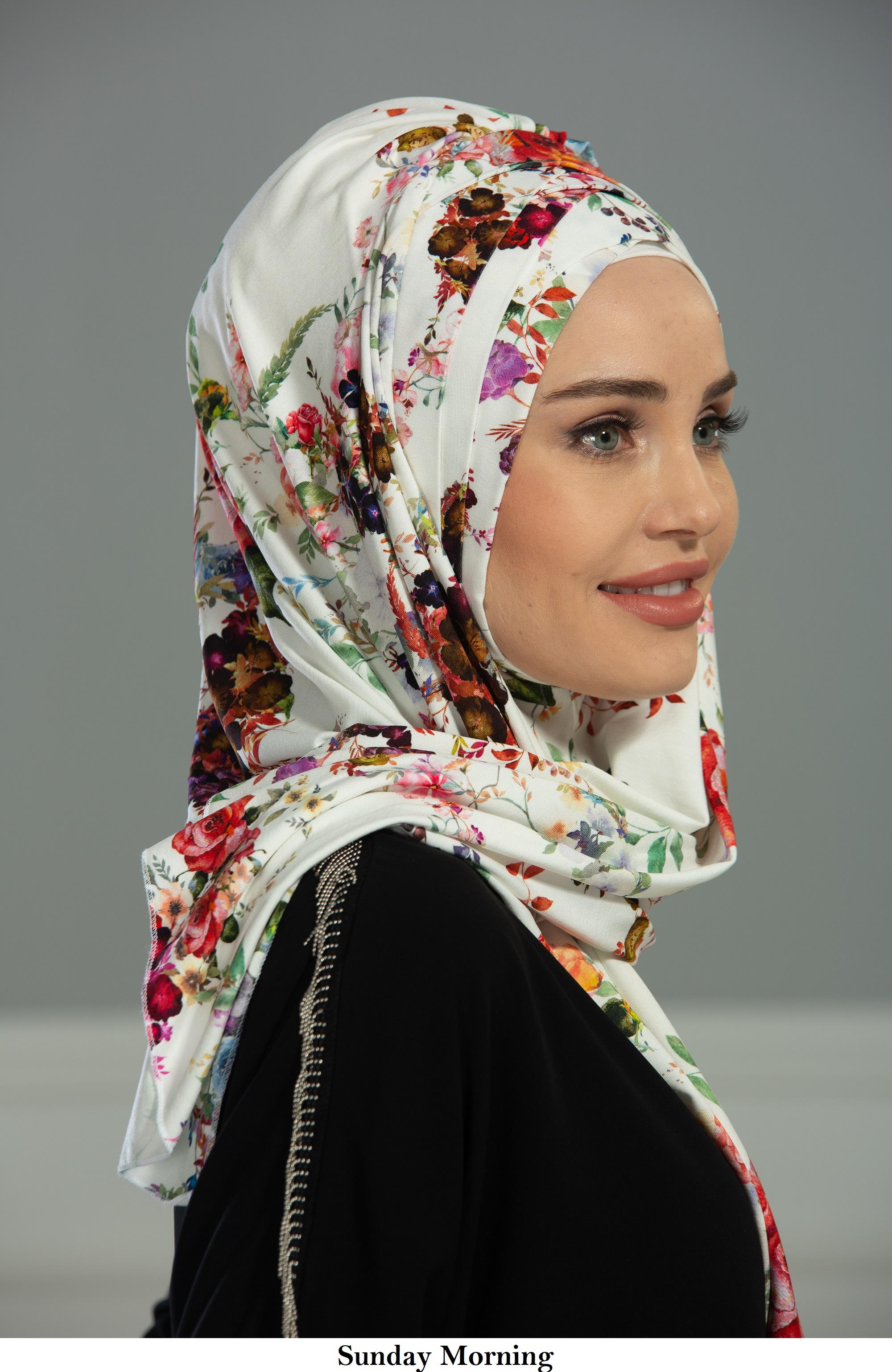Écharpe de Tête de Châle en Coton Instantané Casquette de Turban de Modestie Instantanée Pour Femme