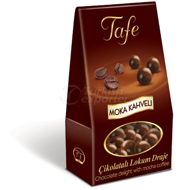 1249 kod Moka Kahveli Çikolatalı Lokum Draje 60g