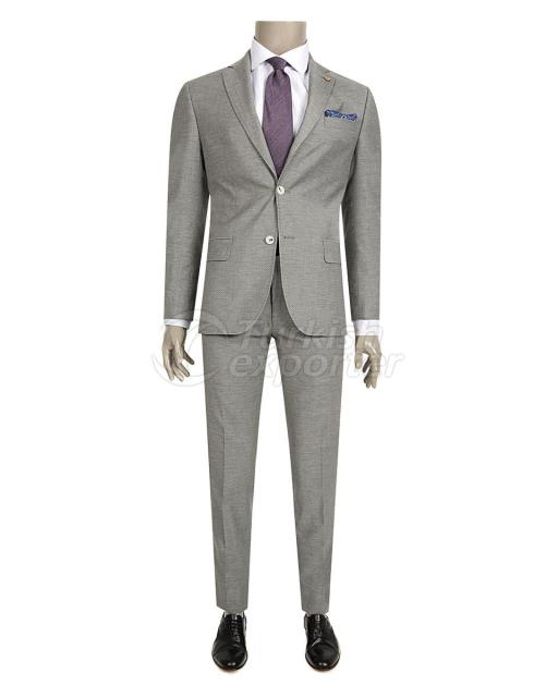 Patterned Gray Suit